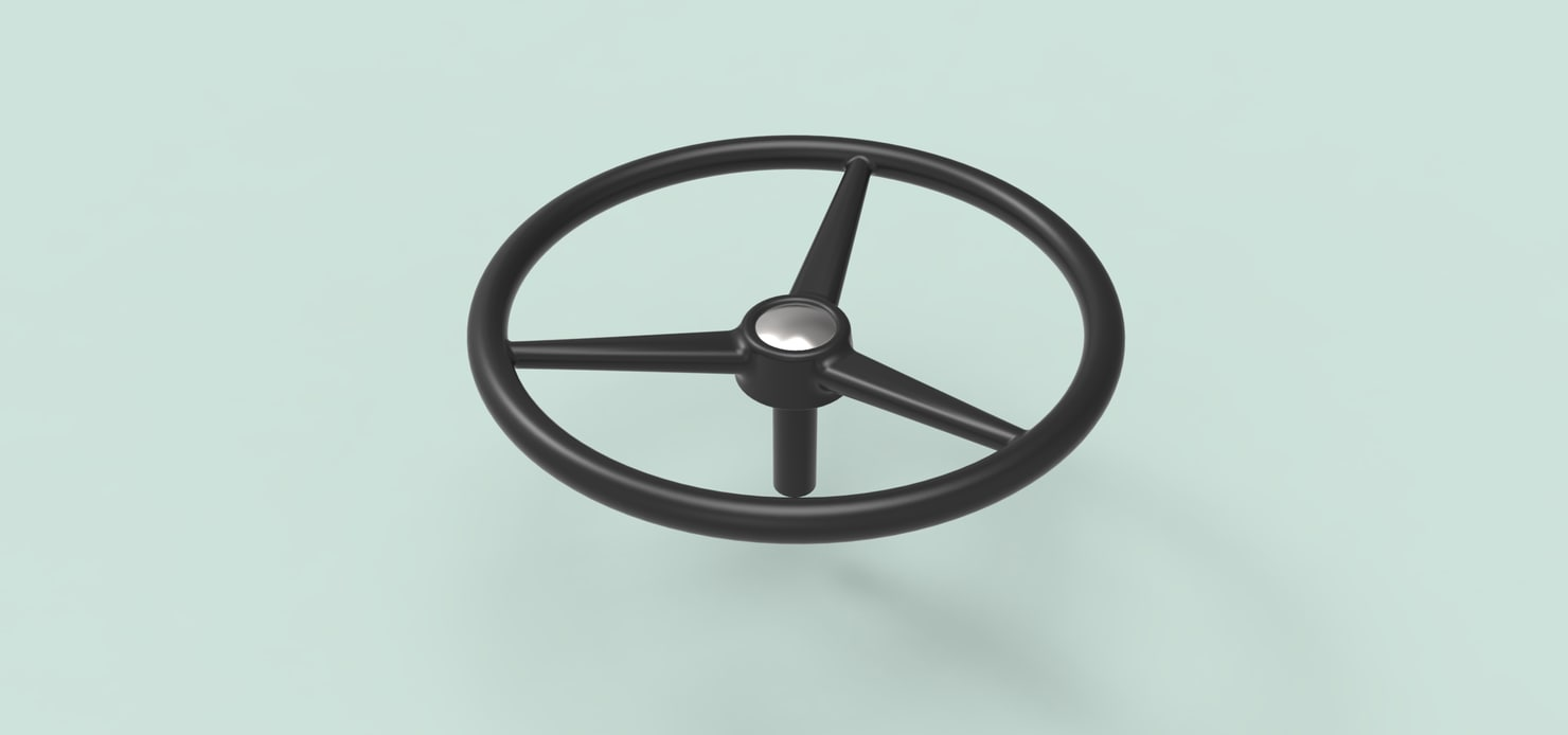 3D stearing wheel model