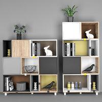 3D modular shelving