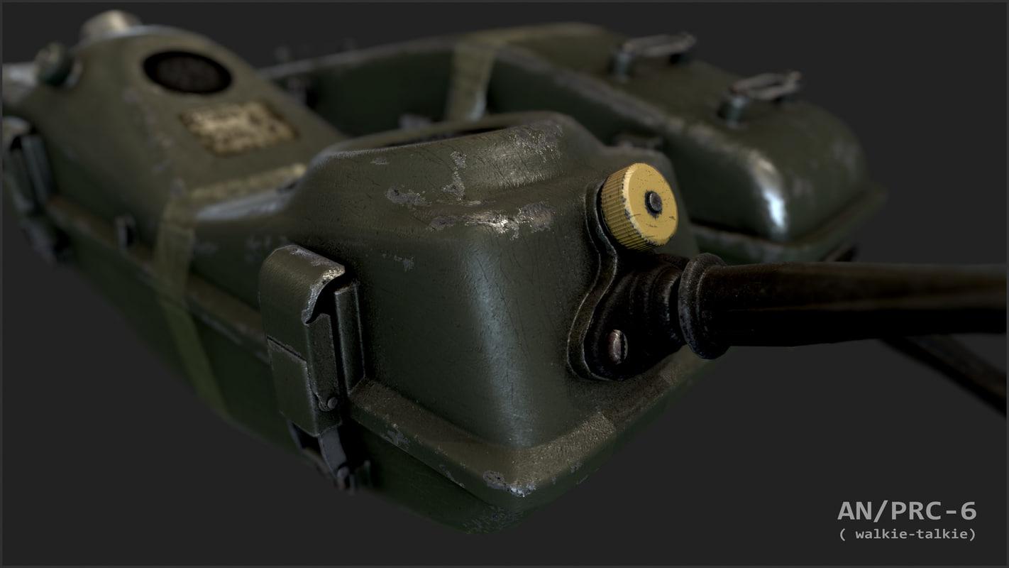 u s talkie prc-6 3D model