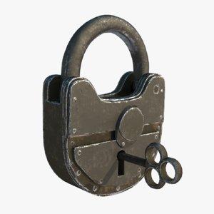 padlock key model