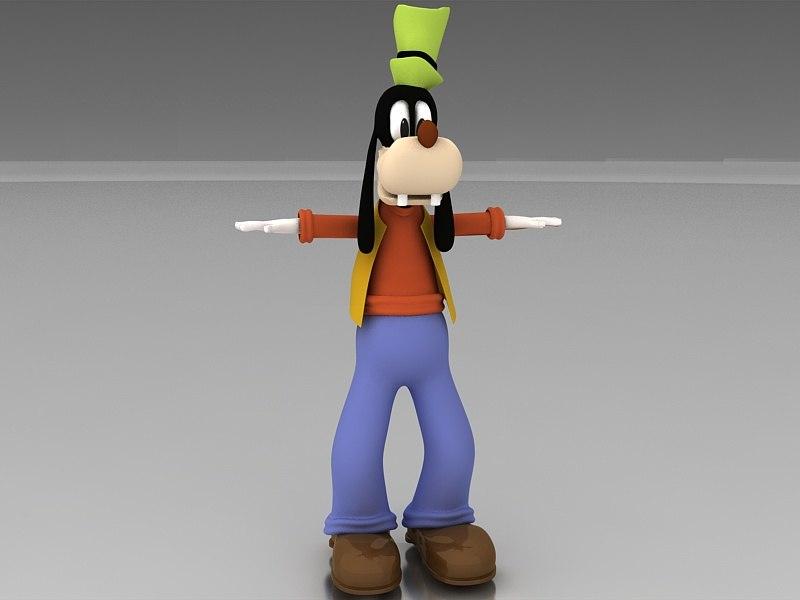 goofy character 3D