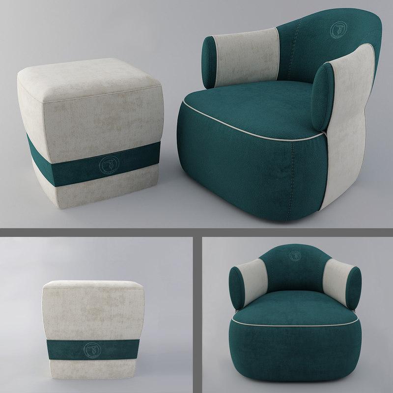 larzia chair pouf 414 model