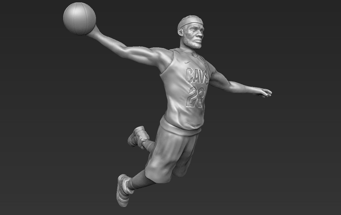 lebron james ready printing 3D model