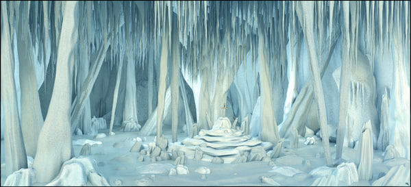 3D ice cave sword