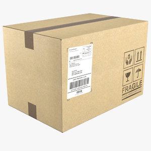 cardboard box 3D