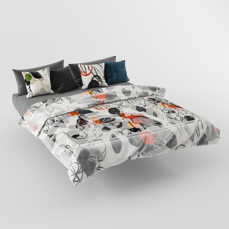 3D model bed pillows