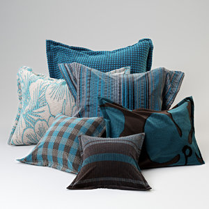 image fabric shader pillows 3D model