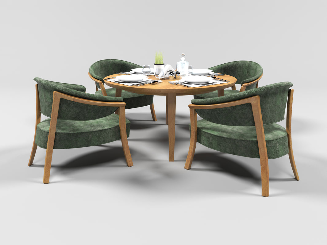 1011 dining furniture set 3D
