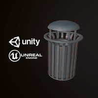 3D pbr ready city trash