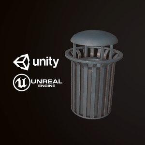 3D pbr ready city trash