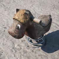 spring swing horse 3D model