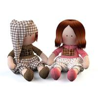 3D dolls textile model