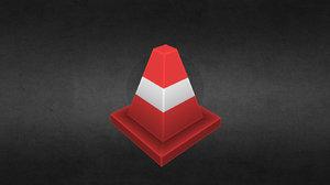 3D handpaint cone model