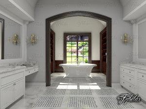 3D model bathroom scene