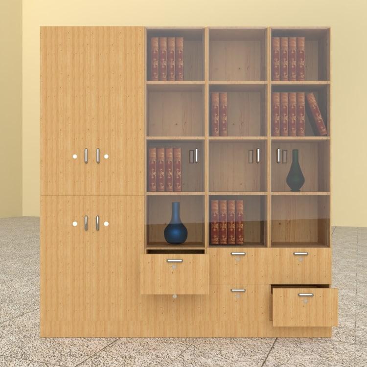 wooden cupboard model