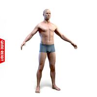 average male body 3D model