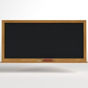 3D chalkboard chalk