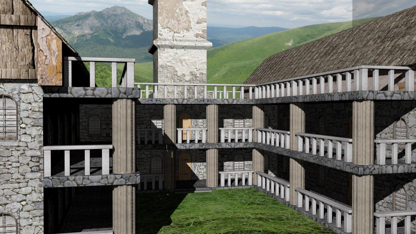 monastery 3D model