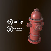 Fire Hydrant - PBR Game Ready