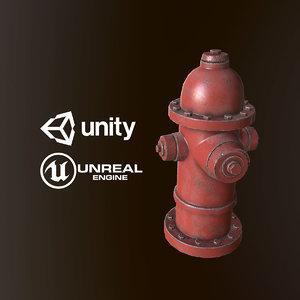 3D model pbr ready hydrant