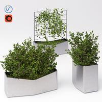 set elements landscaping 4 3D model