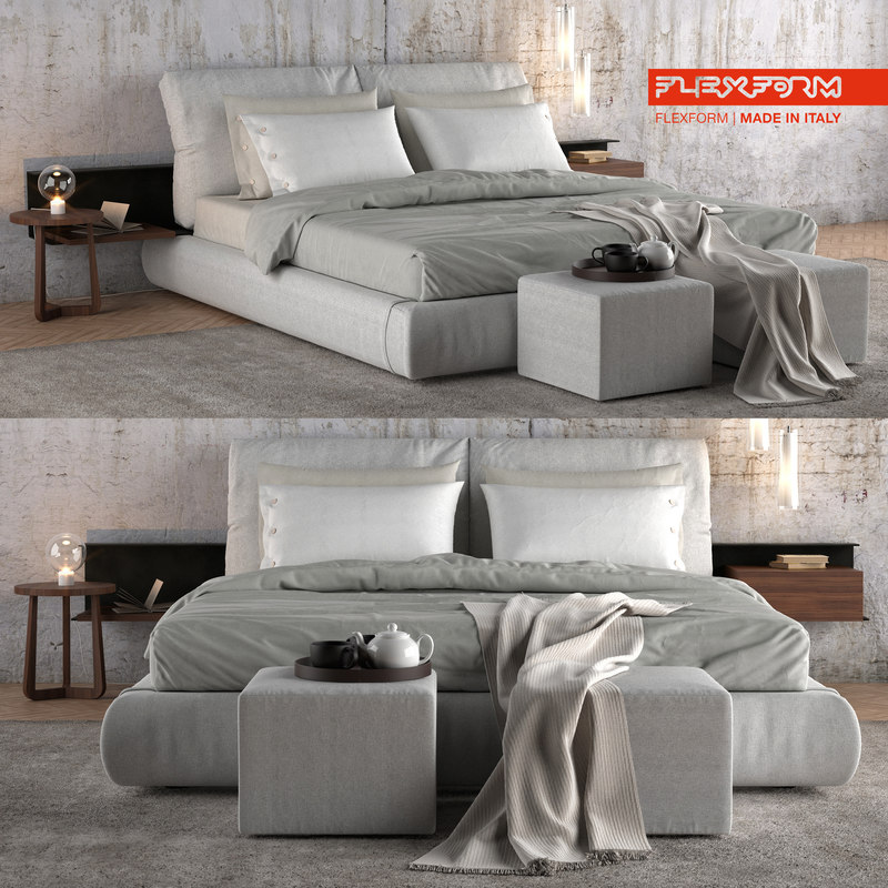 3D model bed flexform newbridge
