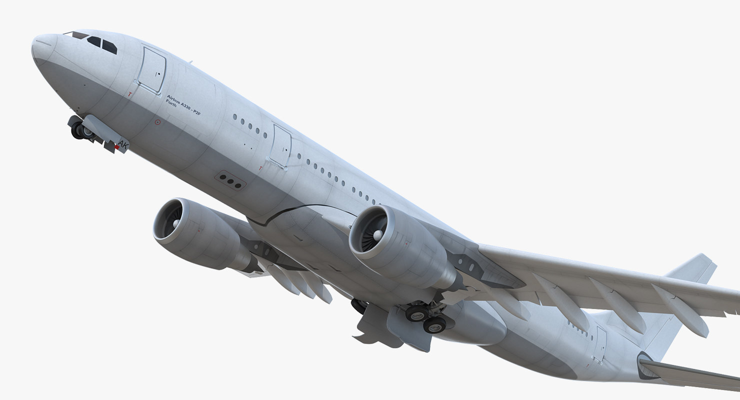 airbus a330-p2f generic rigged 3D