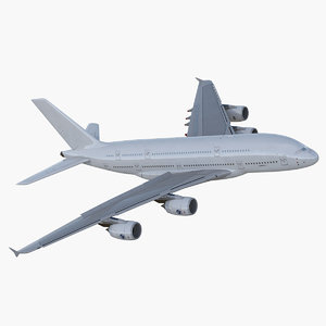 3D airbus a380-800 generic rigged model