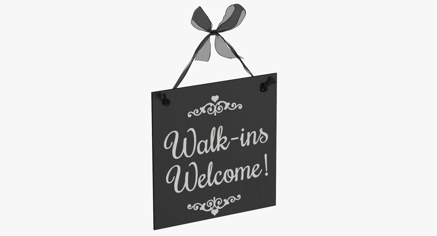welcome sign 03 3D model