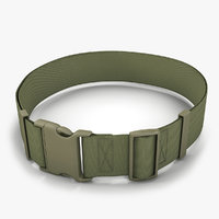 3D army belt model