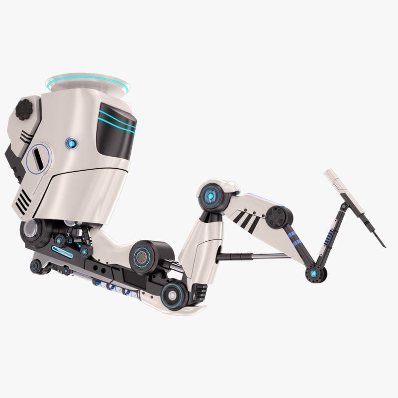 robotic arm stylized 3D model