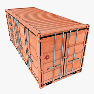 iso open shipping container 3D model