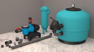 3D pool filter