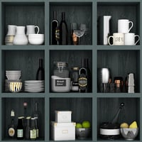 rack shelves model