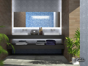 3D bathroom scene