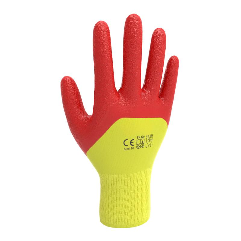 3D ready gloves model