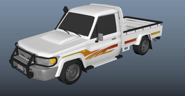 3D toyota land cruiser pickup