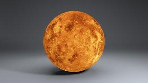 venus globe 8k 3D model