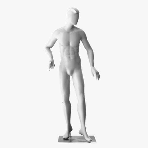 man mannequin rig 3D