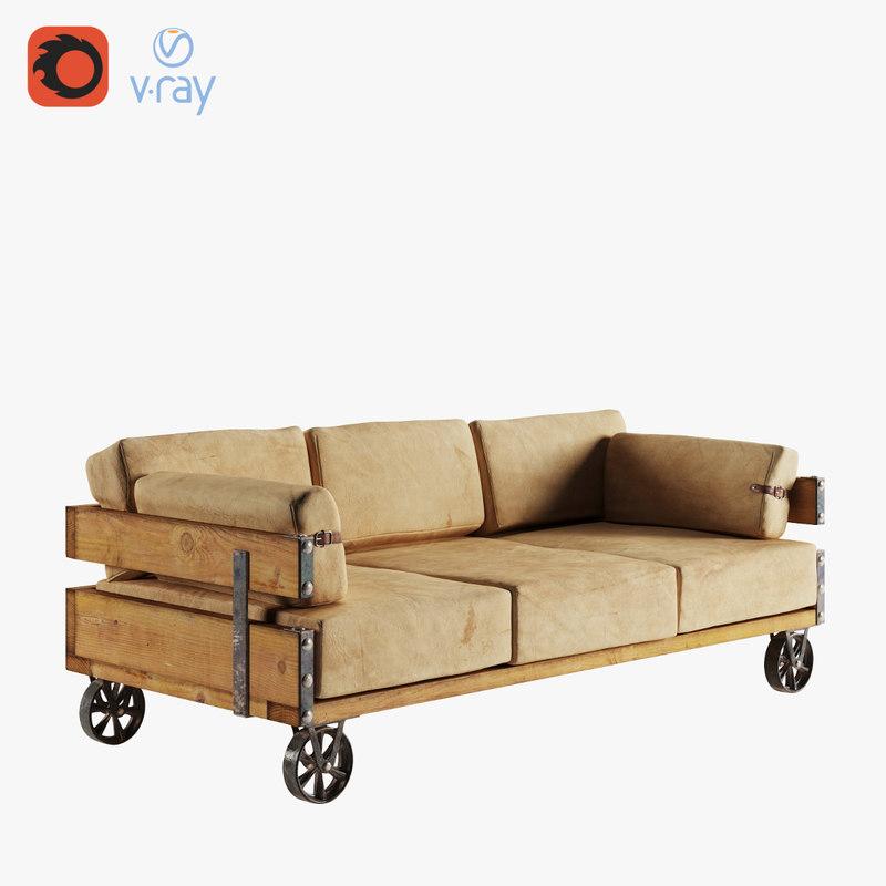 3D model industrial sofa
