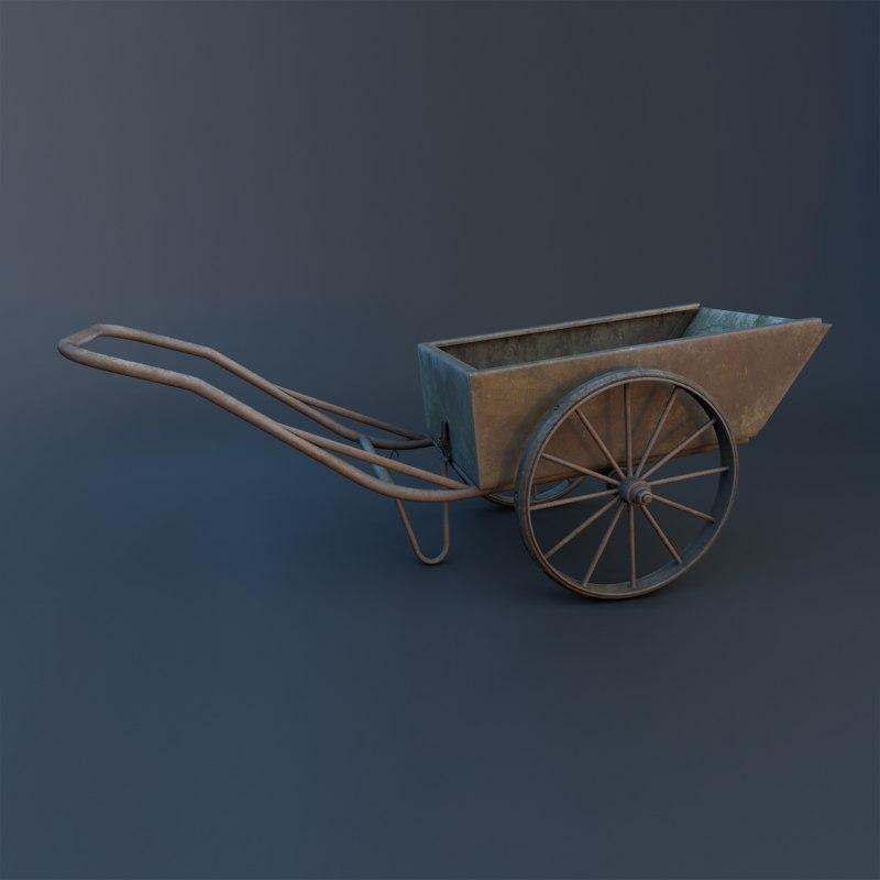 pushcart 3D model