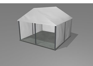 3D event tent marquee