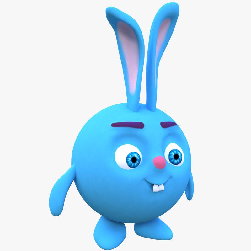 3D cartoon rabbit