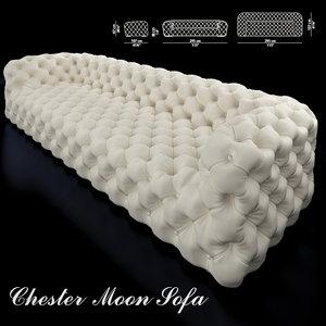 baxter chester moon sofa 3D model