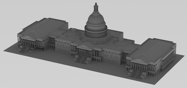 3D united states capitol building