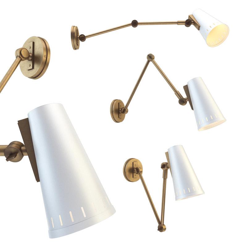 3D antonio adjustable arm wall lamp