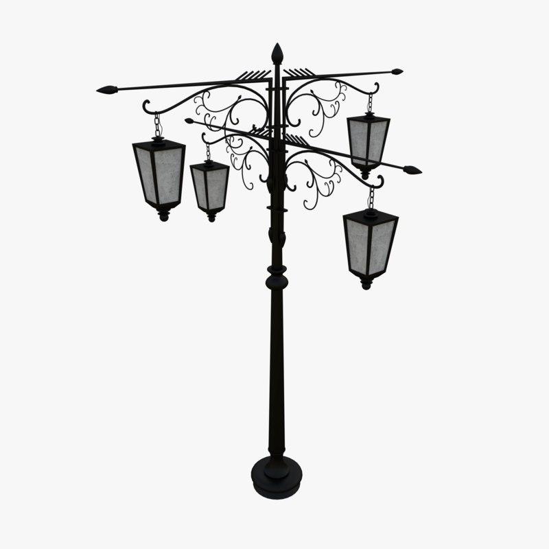 street lamp idritira 3D model