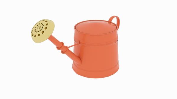 3D model orange watering