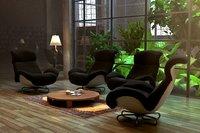 armchairs v-ray 3D model