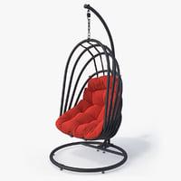 3D suspended armchair mojo model